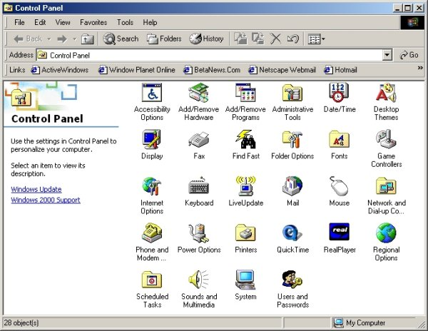 Windows 2000 - Screenshot 2