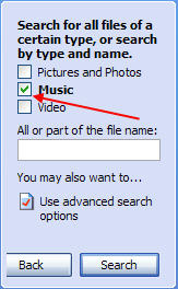 Search your PC For Music